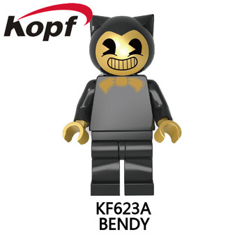 Legoings Minifigured Thriller Oyun Bendy Ve Mürekkep Makinesi Yapı Taşları NinjagoINGLY Tuğla hediye oyuncaklar Için Çocuk KF623